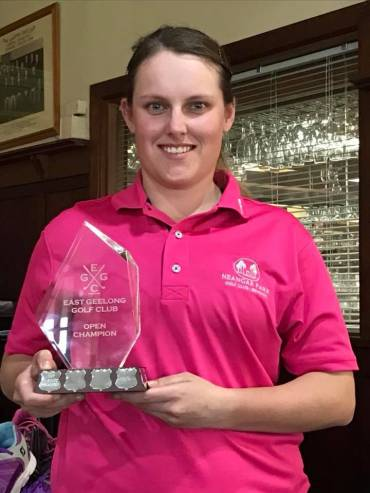 Fiona Is The East Geelong Open Champion!