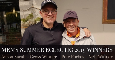 Congratulations Pete Forbes & Aaron Sarah – Winners of the 2019 Summer Eclectic!