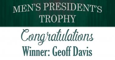 2019 Men's President's Trophy Winner!