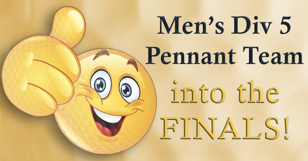 Men's Div 5 Pennant 2019 Finalists!