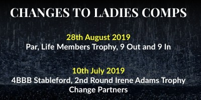 Changes To Ladies Comps