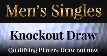 Men's Singles 2019 Knockout Draw