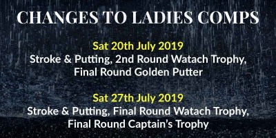 Changes to Ladies Comps July 2019