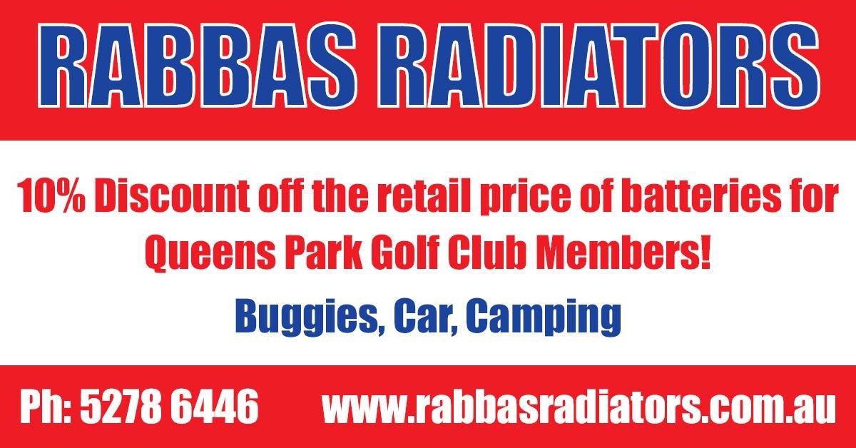 10% Off Batteries at Rabbas Radiators