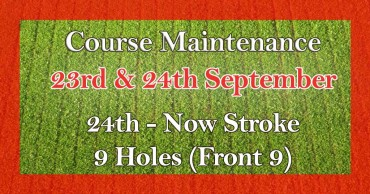 Course Maintentance