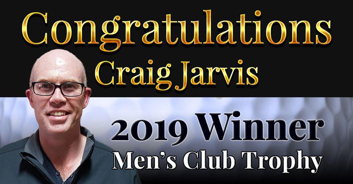 Congratulations Craig Jarvis!