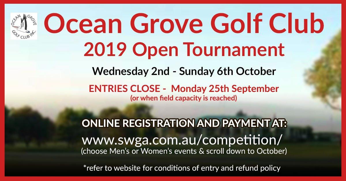 Ocean Grove Golf Club Open 2019