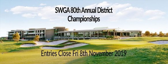 SWGA 80th Annual District Championships
