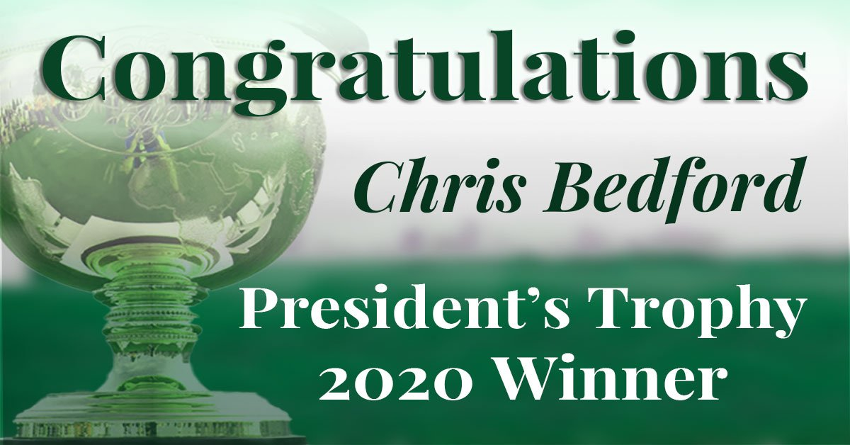 Congratulations Chris Bedford!