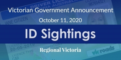 Victorian Government Announcement – October 11, 2020