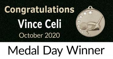 Congratulations Vince Celi – October 2020 Medal Winner