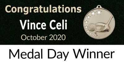 Congratulations Vince Celi – October 2020 Medal Winner