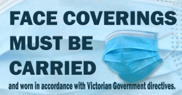Face Coverings Must Be Carried