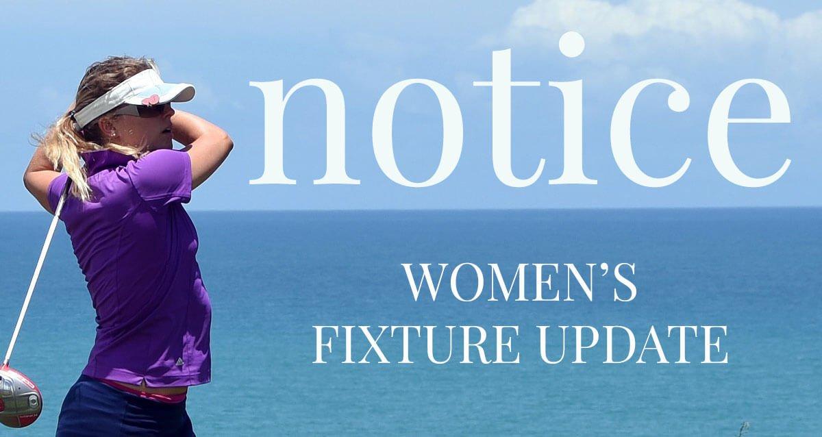 Women's Fixture Update
