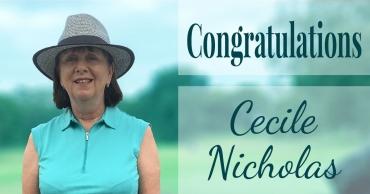 Congratulations Cecile Nicholas!