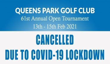 2021 Open Cancelled