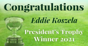 Congratulations Eddie Koszela!